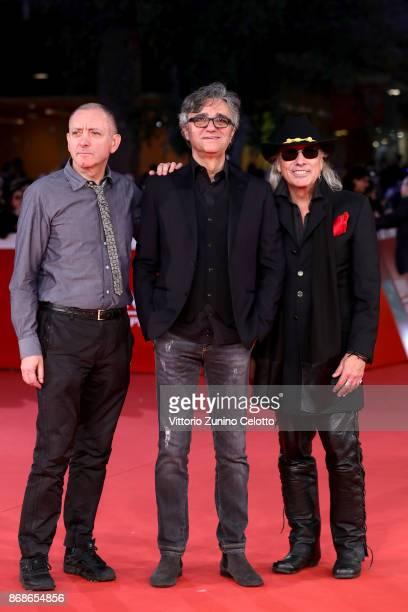 Fabio Liberatori, Gaetano Curreri and Ricky Portera from 'Stadio' band walk a red carpet for 'Borotalco' during the 12th Rome Film Fest at Auditorium...