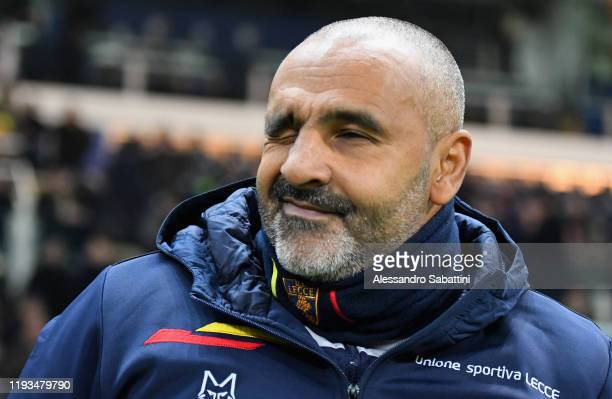 Fabio Liverani head coach of US Lecce looks on during the Serie A match between Parma Calcio and US Lecce at Stadio Ennio Tardini on January 13 2020...