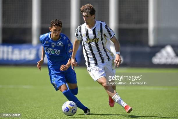 Fabio Miretti of Juventus during the Primavera 1 TIM match between Juventus U19 and Empoli FC U19 at Juventus Center Vinovo on May 05, 2021 in...