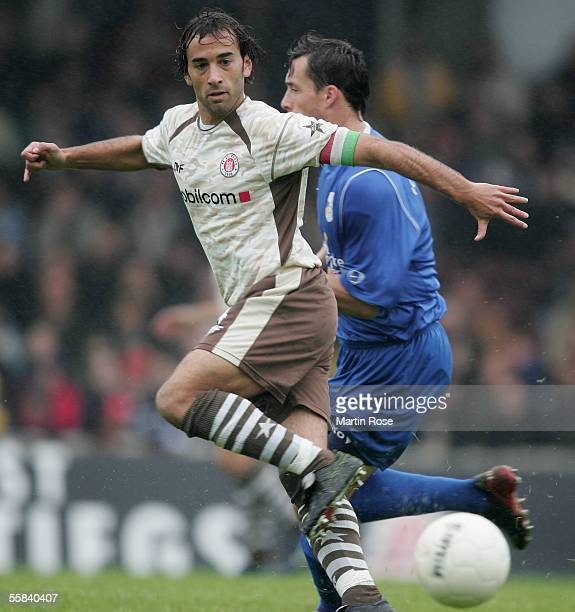 Fabio Morena of StPauli runs with the ball during the match of the Third Bundesliga between FC St Pauli and Carl Zeiss Jena at the Millerntor Stadium...