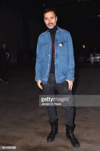 Fabio Novembre attends the Diesel Black Gold show during Milan Men's Fashion Week Fall/Winter 2018/19 on January 13 2018 in Milan Italy