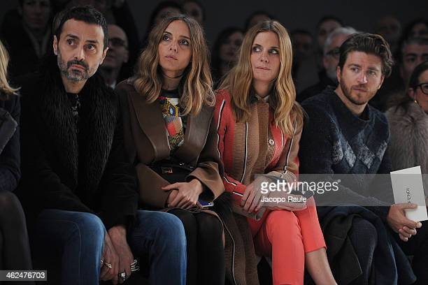 Fabio Novembre Candela Novembre Filippa Lagerback and Alessandro Roja attend the Fendi show as a part of Milan Fashion Week Menswear Autumn/Winter...