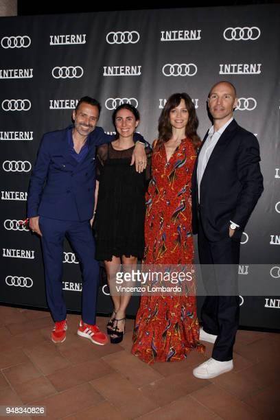 Fabio Novembre Lorenza Luti Francesca Cavallin and Giampaolo Rossi attend Audi City Lab Event on April 18 2018 in Milan Italy