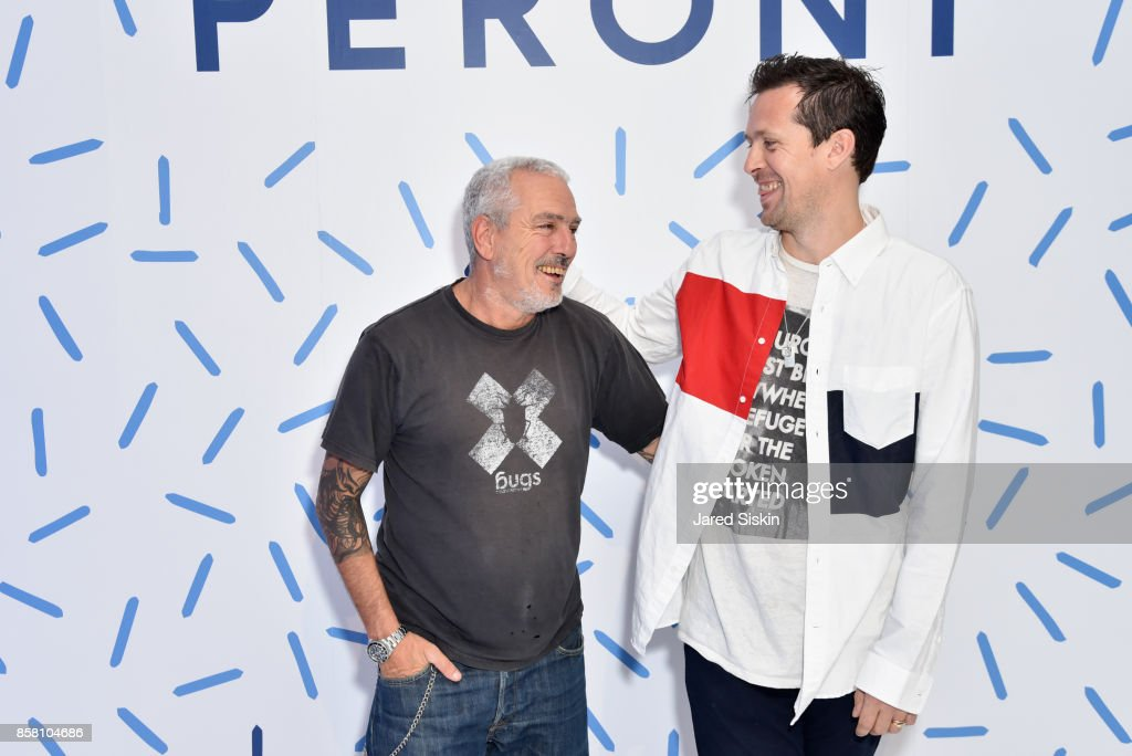 Fabio Paleari and Robert Mongtomery attend St. Vincent & Peroni Nastro Azzurro Unveil Second Edition of The House of Peroni on October 5, 2017 in New York City.