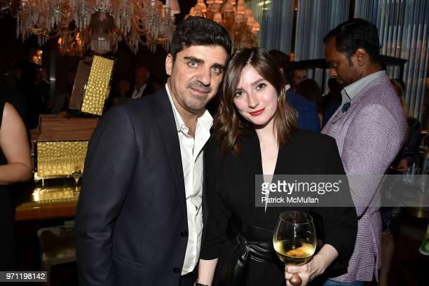 Fabio Paparelli and Jane Rock attend Christopher R King Debuts New Luxury Brand CCCXXXIII at Baccarat Hotel on June 5 2018 in New York City