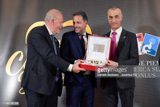 Fabio Paratici during the Cuore Bianco Nero dinner for Candiolo Onlus on May 14, 2019 in Gravellona Toce, Italy.