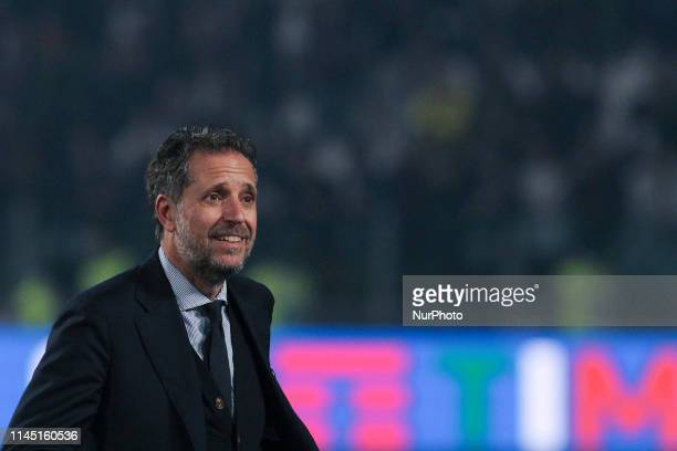 Fabio Paratici during the victory ceremony following the Italian Serie A last football match of the season Juventus versus Atalanta on May 19 2019 at...