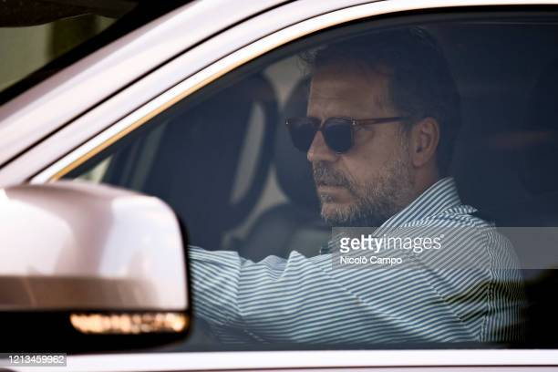 Fabio Paratici of Juventus FC arrives by car to the Continassa training ground Serie A plans to resume its season on 13 June subject to government...
