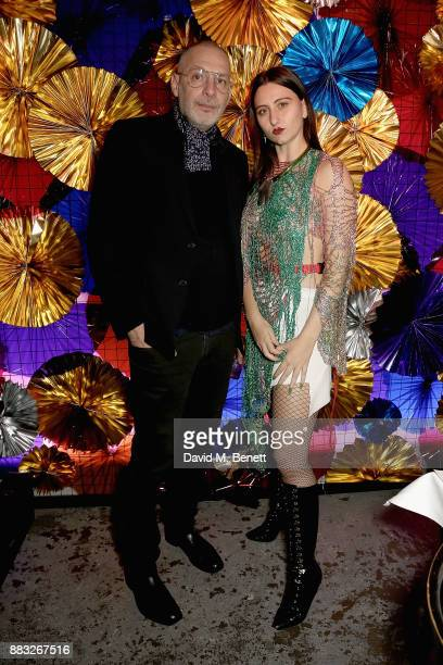 Fabio Piras and Reba Maybury attend a special dinner hosted by Pablo Flack and David Waddington to celebrate Alice Kirkpatrick's holiday decorations...