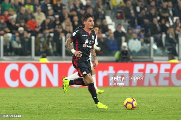 Fabio Pisacane during the Serie A football match between Juventus FC and Cagliari Calcio at Allianz Stadium on November 03 2018 in Turin Italy...