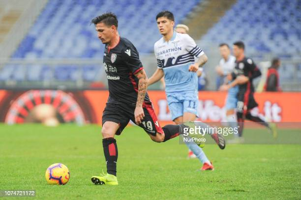 Fabio Pisacane of Cagliari during the Serie A match between SS Lazio and Cagliari at Stadio Olimpico on December 22 2018 in Rome Italy