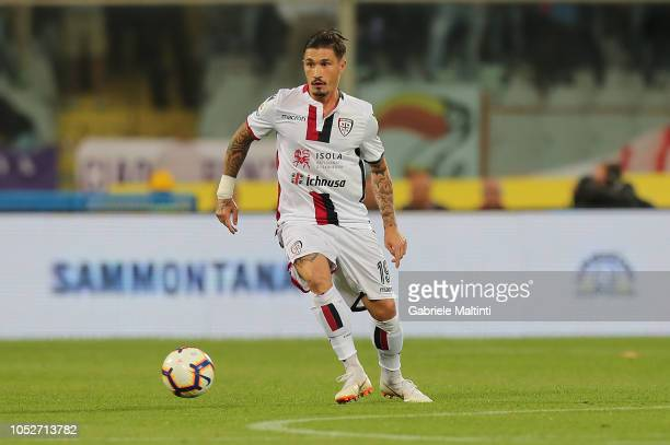 Fabio Pisacane of Cagliari in action during the Serie A match between ACF Fiorentina and Cagliari at Stadio Artemio Franchi on October 21 2018 in...