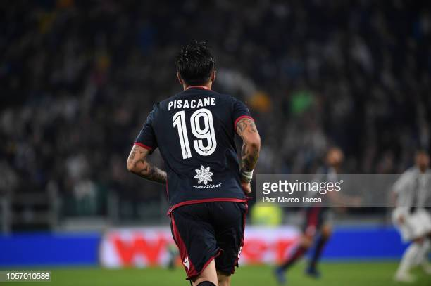 Fabio Pisacane of Cagliari in action during the Serie A match between Juventus and Cagliari on November 3 2018 in Turin Italy