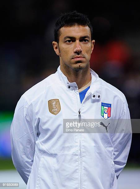 Fabio Quagliarella of Italy poses before the FIFA2010 World Cup Group 8 Qualifier match between Italy and Cyprus at the Tardini Stadium on October 14...