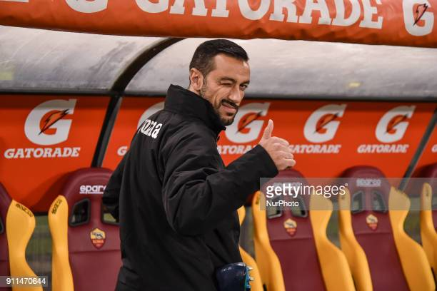 Fabio Quagliarella of Sampdoria during the Serie A match between Roma and Sampdoria at Olympic Stadium Roma Italy on 28 January 2018