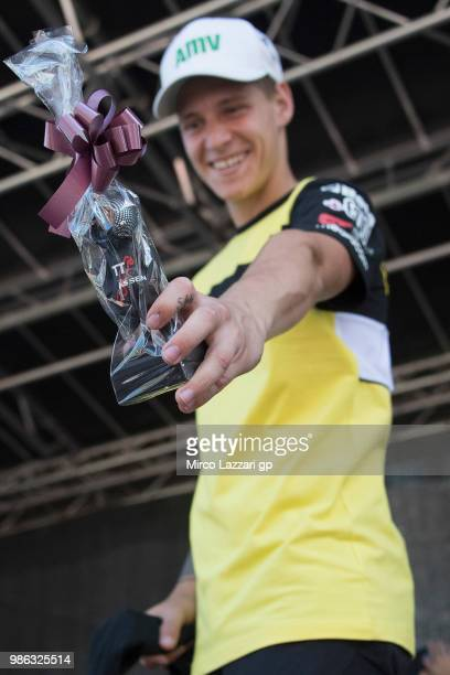 Fabio Quartararo of France and Beta Tools Speed Up Racing smiles during the preevent 'MotoGP riders will get a lesson of selfdefense with Dutch...