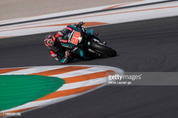 Fabio Quartararo of France and Petronas Yamaha SRT during the MotoGP Tests in Valencia at Ricardo Tormo Circuit on November 20 2019 in Valencia Spain