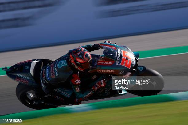 Fabio Quartararo of France and Petronas Yamaha SRT during the qualifying of Gran Premio Motul de la Comunitat Valenciana at Ricardo Tormo Circuit on...