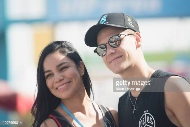 Fabio Quartararo of France and Petronas Yamaha SRT poses with fan during the MotoGP Tests at Losail Circuit on February 22 2020 in Doha Qatar