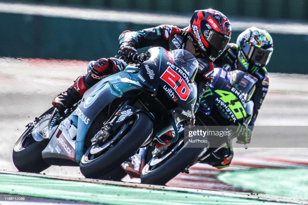Fabio Quartararo Of Petronas Yamaha Srt Team And Valentino Rossi Of News Photo Getty Images