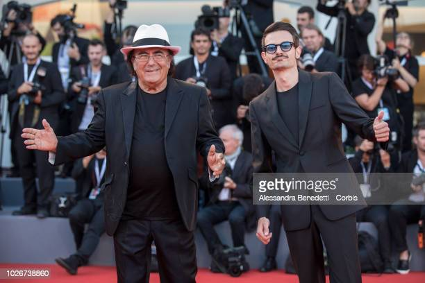 Fabio Rovazzi and Albano walk the red carpet ahead of the 'Vox Lux' screening during the 75th Venice Film Festival at Sala Grande on September 4 2018...