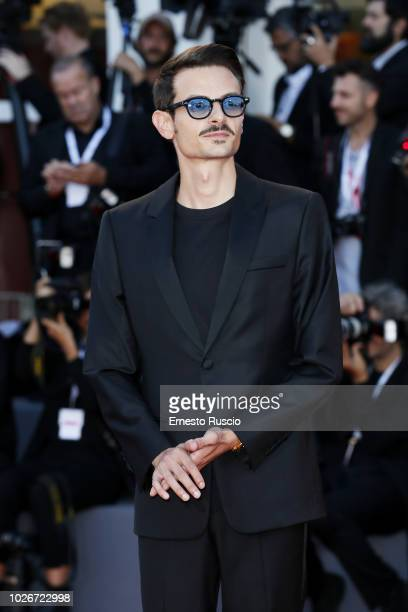 Fabio Rovazzi walks the red carpet ahead of the 'Vox Lux' screening during the 75th Venice Film Festival at Sala Grande on September 4 2018 in Venice...