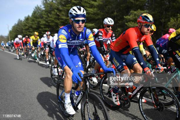 Fabio Sabatini of Italy and Team Deceuninck QuickStep / Sonny Colbrelli of Italy and Team Bahrain Merida / during the 77th Paris Nice 2019 Stage 3 a...