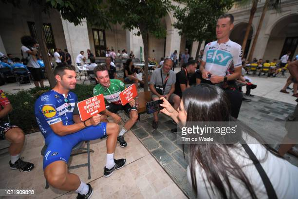 Fabio Sabatini of Italy and Team QuickStep Floors / Elia Viviani of Italy and Team QuickStep Floors / during the 73rd Tour of Spain 2018 Team...