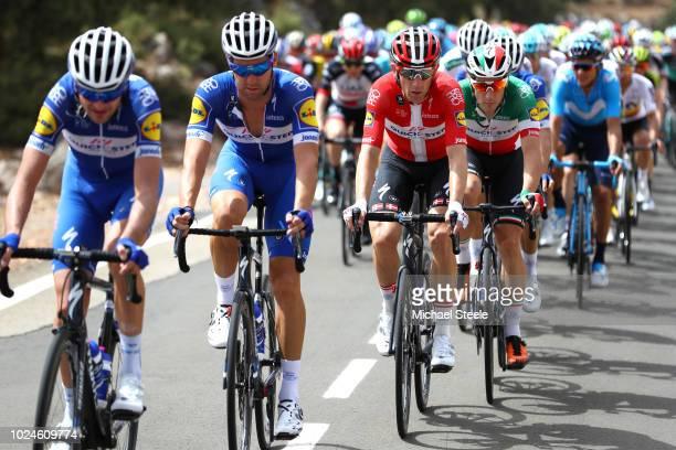 Fabio Sabatini of Italy and Team QuickStep Floors / Elia Viviani of Italy / Enric Mas of Spain/ Michael Morkov of Denmark / Team QuickStep Floors of...