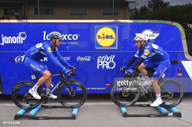 Fabio Sabatini of Italy and Team Quick-Step Floors / Elia Viviani of Italy and Team Quick-Step Floors / during the 72nd Tour de Romandie 2018, Stage...
