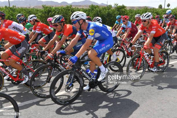 Fabio Sabatini of Italy and Team QuickStep Floors / Franco Pellizotti of Italy and Bahrain Merida Pro Cycling Team / during the 73rd Tour of Spain...