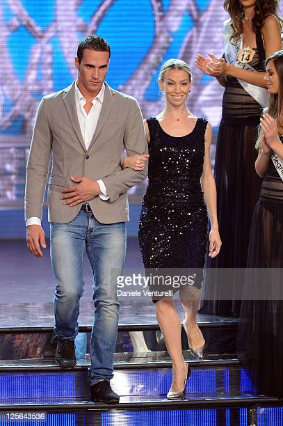 Fabio Scozzoli and Eleonora Abbagnato attend the 2011 Miss Italia beauty pageant at the Palazzetto of Montecatini on September 19 2011 in Montecatini...