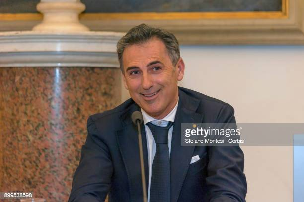 Fabio Serini Director Ipa during the press conference to present the relaunch and development of Ipa the employee welfare and assistance institute of...