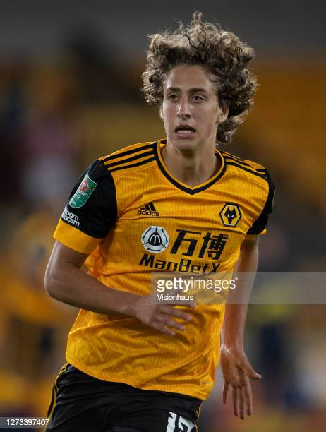Fabio Silva of Wolverhampton Wanderers during the Carabao Cup second round match between Wolverhampton Wanderers and Stoke City at Molineux on...