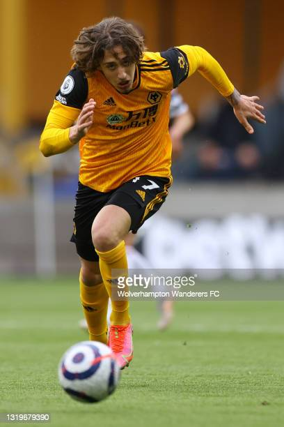 Fabio Silva of Wolverhampton Wanderers in acton during the Premier League match between Wolverhampton Wanderers and Manchester United at Molineux on...