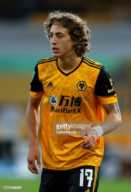 Fabio Silva of Wolverhampton Wanderers looks on during the Carabao Cup second round match between Wolverhampton Wanderers and Stoke City at Molineux...