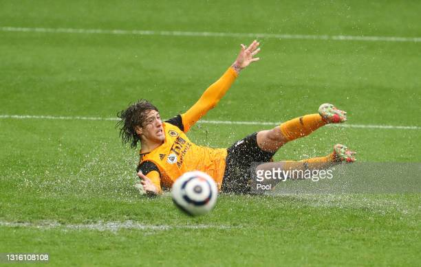 Fabio Silva of Wolverhampton Wanderers reacts after slipping during the Premier League match between West Bromwich Albion and Wolverhampton Wanderers...