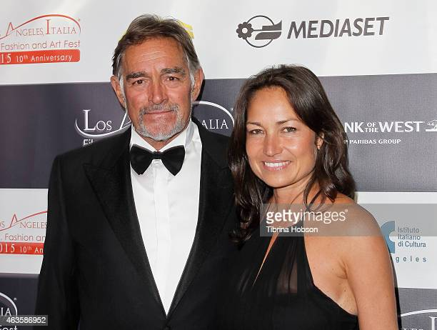 Fabio Testi and Antonella Liguori attend the Los Angeles Italia opening gala at TCL Chinese 6 Theatres on February 15, 2015 in Hollywood, California.