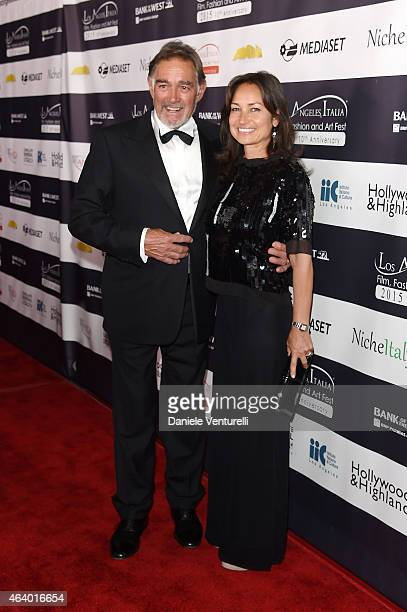 Fabio Testi and Antonella Testi attend Los Angeles Italia Closing Night Ceremony at TCL Chinese 6 Theatres on February 20, 2015 in Hollywood,...