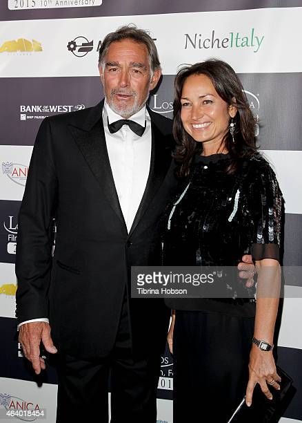 Fabio Testi and Guest attend the Los Angeles Italia closing night ceremony at TCL Chinese 6 Theatres on February 20 2015 in Hollywood California