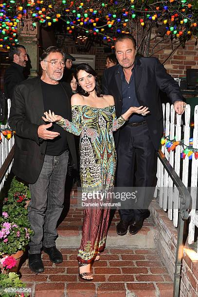Fabio Testi, Cristina Parovel and Sebastiano Somma attend AMBI PICTURES Dinner Party during the Los Angeles Italia on February 16, 2015 in Los...