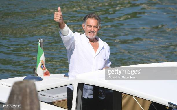 Fabio Testi is seen arriving at the 77th Venice Film Festival on September 08, 2020 in Venice, Italy.