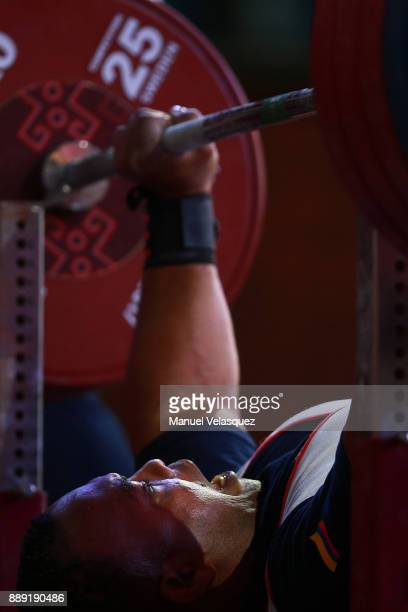 Fabio Torres of Colombia is seen during the Men's Up to 97Kg Group A Category as part of the World Para Powerlifting Championship Mexico 2016 at Juan...