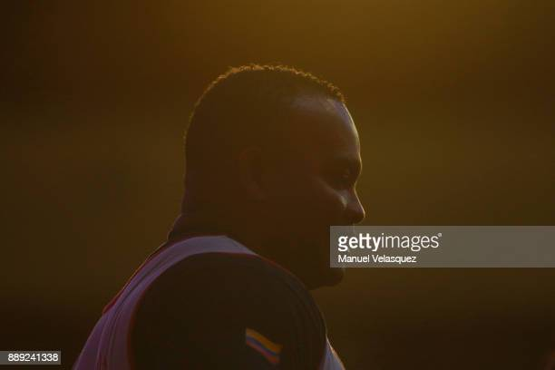Fabio Torres of Colombia looks on during the Men's Up to 97Kg Group A Category as part of the World Para Powerlifting Championship Mexico 2016 at...