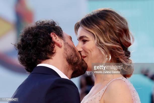 "Fabio Troiano and Eleonora Pedron walk the red carpet ahead of the ""Gloria Mundi"" screening during the 76th Venice Film Festival at Sala Grande on..."