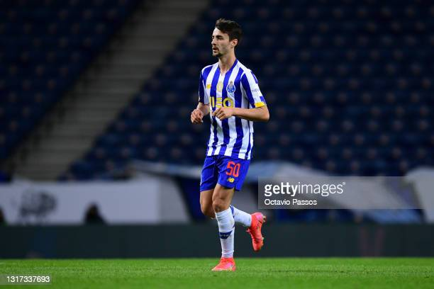 Fabio Vieira of FC Porto in action during the Liga NOS match between FC Porto and SC Farense at Estadio do Dragao on May 10, 2021 in Porto, Portugal....