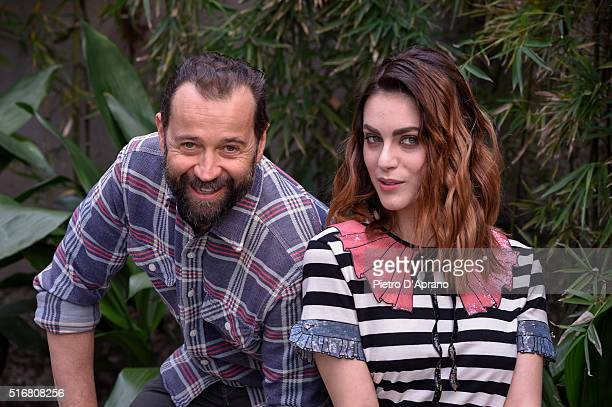 Fabio Volo and Miriam Leone attends a photocall for 'Un Paese Quasi Perfetto' on March 21 2016 in Milan Italy