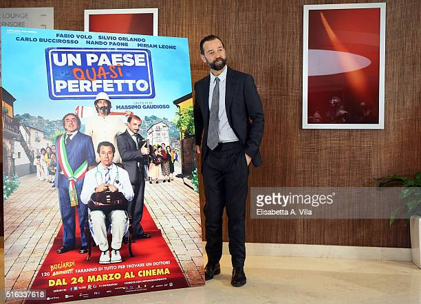 Fabio Volo attends a photocall for 'Un Paese Quasi Perfetto' on March 18 2016 in Rome Italy