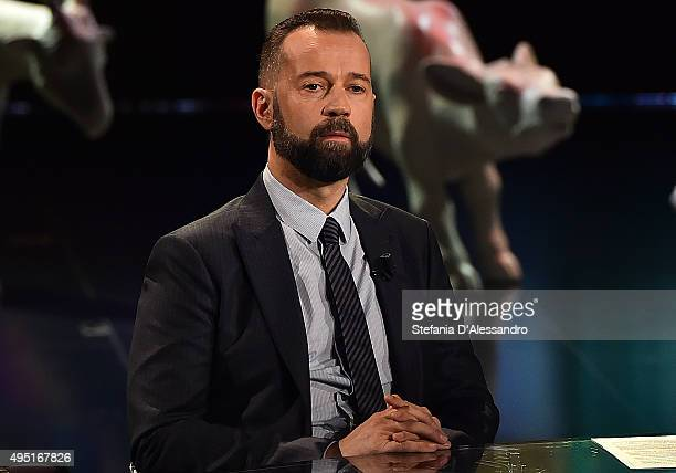 Fabio Volo attends 'Che Fuori Che Tempo Che Fa' Tv Show on October 31 2015 in Milan Italy