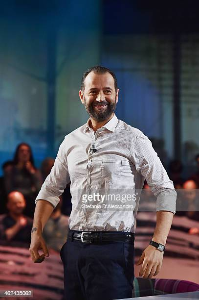Fabio Volo attends Le Invasioni Barbariche TV Show on January 28 2015 in Milan Italy